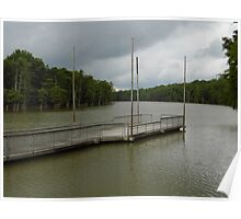 Dock At Cooks Lake Poster