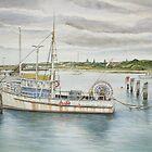 Appollo Bay seasons close (watercolour) by Ken Tregoning