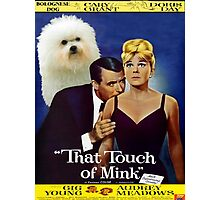 Bolognese Dog Art - That Touch of Mink Movie Poster Photographic Print