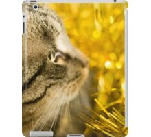 Tabby Cat and Yellow Tinsel 4 iPad Case/Skin
