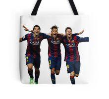 Messi, Suárez and Neymar Tote Bag