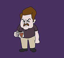 Ron Swanson Steak Mug by ThoughtUncommon
