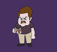 Ron Swanson Steak Mug by ThoughtUncommon