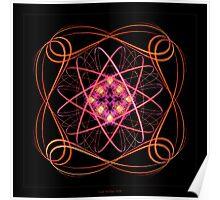 """Atom Bloom""  - Fractal Art Poster"