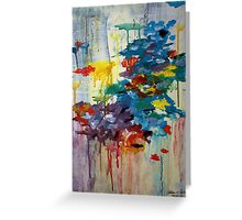 Abstract rainclouds Greeting Card