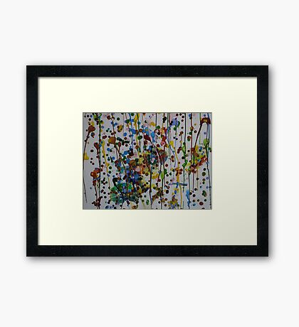 Melted Wax Framed Print
