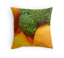 Fruit And Veggies For Supper Throw Pillow