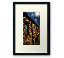 Moonlit Chateau Framed Print