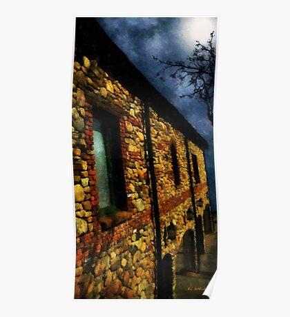 Moonlit Chateau Poster