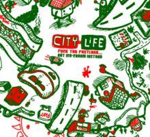 City Life  -  1 G R W Sticker