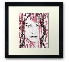 Your blood on my face Framed Print