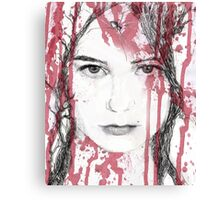 Your blood on my face Canvas Print