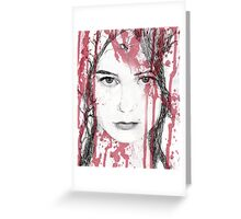 Your blood on my face Greeting Card