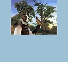 Boston Terrier Art - Old tree and Falconer T-Shirt