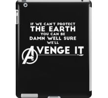 Avengers Will Avenge It. (White) iPad Case/Skin