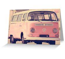 Pink VW camper van Greeting Card