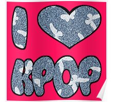 I HEART KPOP DENIM - PINK Poster