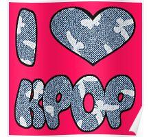 I HEART KPOP DENIM - PINK Poster