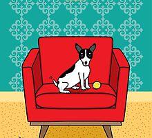 Home Sweet Home Rat Terrier Print by dreamingdogs