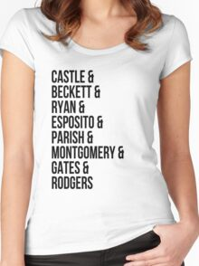 Castle Characters Women's Fitted Scoop T-Shirt