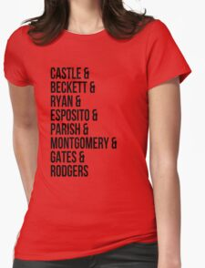 Castle Characters Womens Fitted T-Shirt