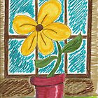 Folk Art Flower in the Window by janetmarston