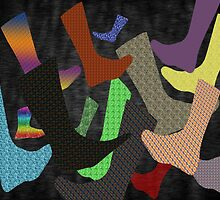 Socks Abstract by Barry  Jones