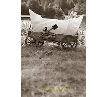 Covered wagon Photographic Print