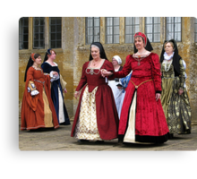 Make Way For The Dancers At Montacute House Canvas Print