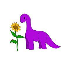 Sauropod and Sunflower Photographic Print
