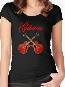 Wonderful Red Gibson ES Women's Fitted Scoop T-Shirt