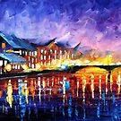 Gold Harbor — Buy Now Link - www.etsy.com/listing/228988391 by Leonid  Afremov
