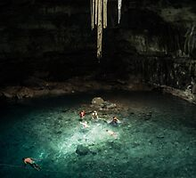 Cenote Samula, Valladolid, Mexico by Tess Mitchell