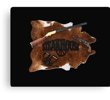 Steakhouse redneck rockin' band 2 Canvas Print