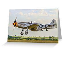 "P-51D Mustang 44-74427 F-AZSB ""Nooky Booky IV"" Greeting Card"