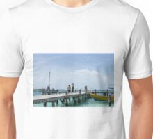 A Boy on the Wharf, Isla Mujeres, Mexico Unisex T-Shirt