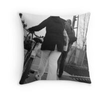 """Walking with Wheels"" Throw Pillow"