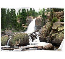 Stunning Alberta Falls Poster