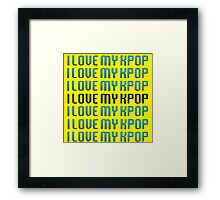 LOVE MY KPOP - YELLOW Framed Print