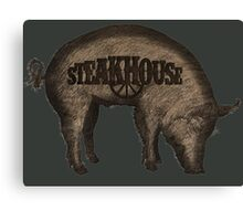 Steakhouse redneck rockin' band 3 Canvas Print