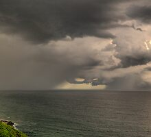 Storm off Newcastle Harbour by Andrew Murrell