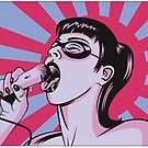 Dirty girl in bubble gum colors by krayola