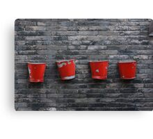 Red on Grey Canvas Print