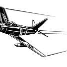 F86 Sabre Jet by krayola
