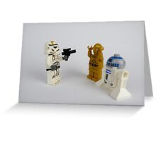 Star Wars Characters Greeting Card