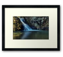 The Lower Sluice of Brasstown Falls Framed Print