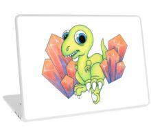 New School Dino & Crystals Laptop Skin