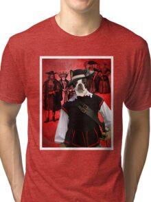 Boston Terrier Art - Musketeer Tri-blend T-Shirt