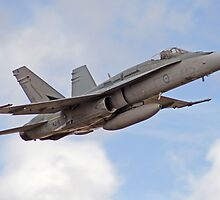 F/A-18 Hornet, performing flyby by Shane Ekerbicer