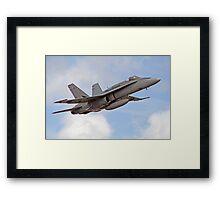 F/A-18 Hornet, performing flyby Framed Print